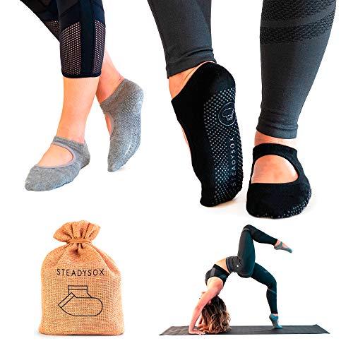 SteadySox Yoga Socks for Women Non-Slip Grip Socks for Pilates, Barre, Hospital, Dance & Workout
