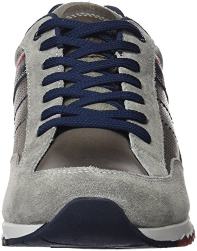 Dockers by Gerli Herren 38av086-201 Low-Top Grau (grau/blau 206)