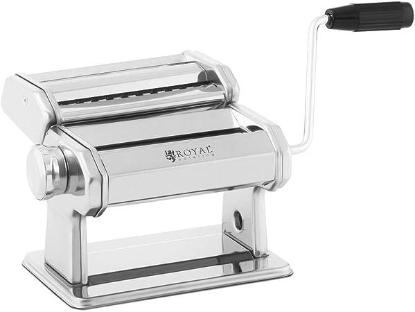 Entrada para la masa: 17 cm, Grosor de 0,5 a 3 mm, Accesorio de corte extra/íble Royal Catering M/áquina Para Pasta Aparato Manual RC-PM180Q