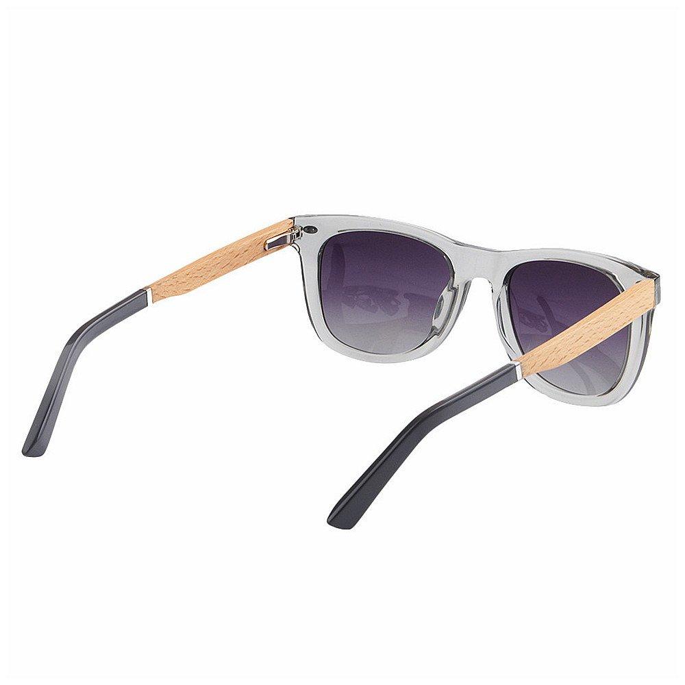 5d065f7cae Color : Gris Ju-sheng Gafas de Sol para Hombre Gris Transparente Forma  Cuadrada Gafas de Sol ...