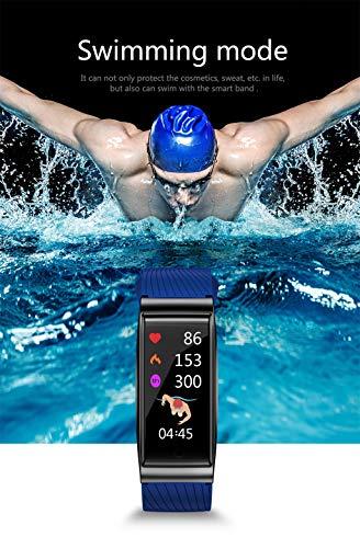 Yukuai Sport Smartwatch Bracelet, Waterproof Fitness Activity Tracker Heart Rate Weather Forecast Sleep Monitor Pedometer, Multifunctional Sport Bracelet for Android iOS