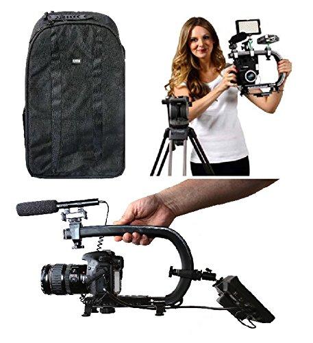 カメラスタビライザーバンドルW/Scorpion EX + Largeバックパックカメラバッグ+カーボンファイバーTripod for DSLR、iPhone、GoPro、Canon、Nikon、Pentax、Sony、&ブラックマジック   B01MSQL57X