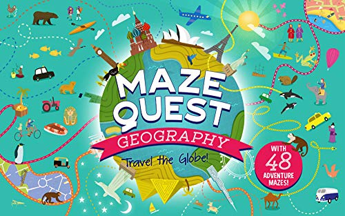 Maze Quest: Geography: Travel the Globe!