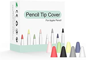 Yikda Designed for Apple iPad Pencil Tips Nibs Cover(8 Colors) Premium Silicone Slim Lightweight Thin Protective Case Noiseless Drawing for Apple Pencil 1st Gen/Pencil (2nd Generation)