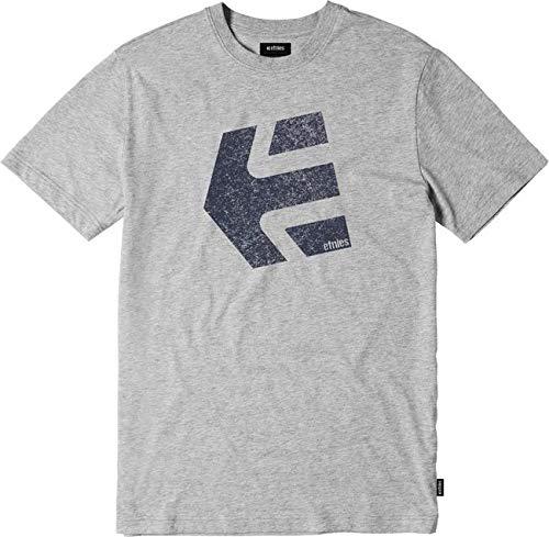 Etnies Big Boys' Logomania Shirts,Large,Grey/Heather - Etnies Kids T-shirt