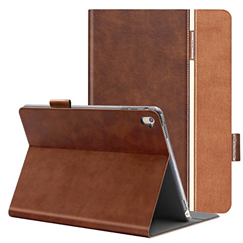 auaua iPad Pro 9.7 Case, PU Leather Case for iPad Pro 9.7 with Smart Cover Auto Sleep/Wake +Pencil Holder+Screen Protector for Apple iPad Pro 9.7 inch Apple Tablet