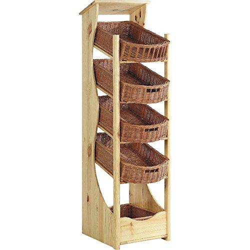 Spalte Regal Küche aus Holz und Korb günstig kaufen