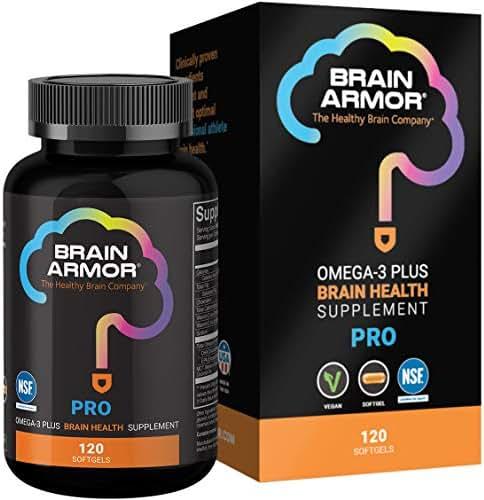 Brain Armor Pro Athlete - 2,556mg Super Omega-3 Vegan Softgels (120 Capsules)