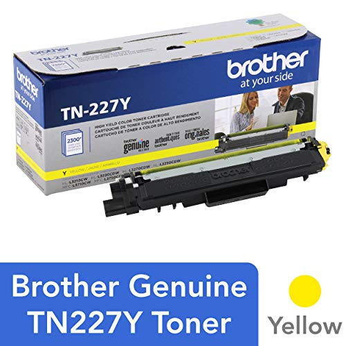 2300 Smart Print (Brother Genuine TN227Y, High Yield Toner Cartridge, Replacement Yellow Toner, Page Yield Up to 2,300 Pages, TN227, Amazon Dash Replenishment Cartridge)