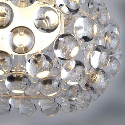 "LightInTheBox®Modern Chandelier ""Rain Drop"" Chandeliers Lighting with Crystal Balls Pendant Light Modern Foscarini Design Bulb Included 1 Light Ceiling Light Fixture for Dining Room, Living Room"