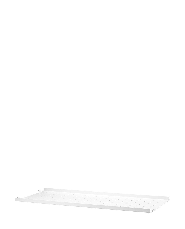 String Regalboden Metall niedrige Kante 78 x 30 x 4 cm weiß