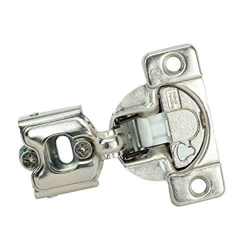 """25 Pack Rok Hardware Grass TEC 864 108 Degree 1/4"""" Overlay 3 Level Soft Close Screw On Compact Cabinet Hinge 04429A-15 3-Way Adjustment 45mm Boring Pattern"""