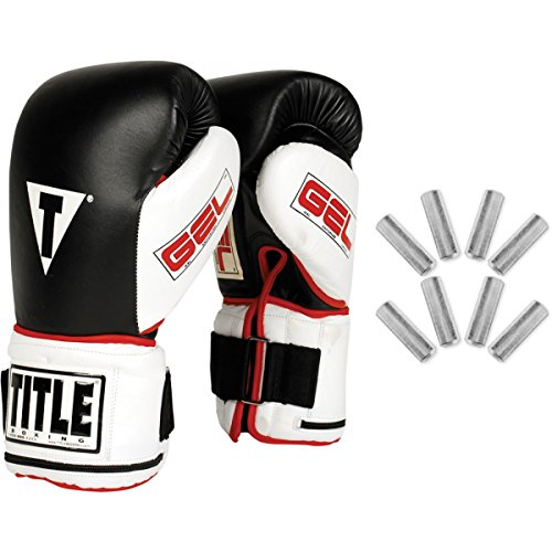 Weighted Gloves Set (TITLE Gel Power Weighted Super Bag Gloves, Large)