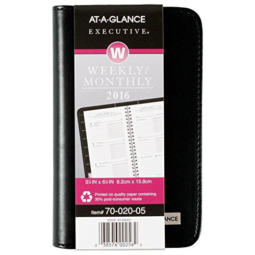AT-A-GLANCE Executive Weekly / Monthly Planner 2016, 3.25 x 6.25 Inches (7002005)