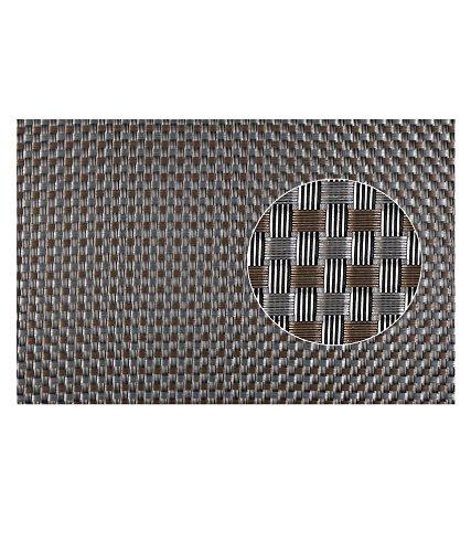 E Retailer™ Table Placemats Copper Grey Check Design  6 Placemats