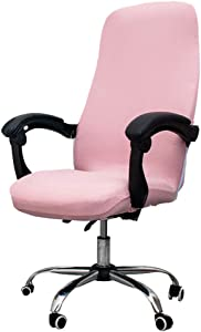 Melaluxe Office Chair Cover - Universal Stretch Desk Chair Cover, Computer Chair Slipcovers (Size: L) - Pink