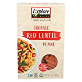 Explore Cuisine Organic Red Lentil Penne Pasta, 227g, package may vary