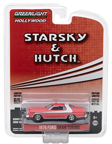 64 Scale Diecast Series (GreenLight 1:64 Hollywood Series 18 Starsky & Hutch 1976 Ford Gran Torino Diecast Vehicle)