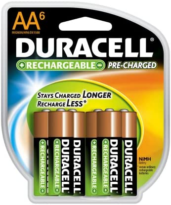 Amazon Com Duracell Pre Charged Rechargeable Nimh Aa Batteries 6 Pack Health Personal Care
