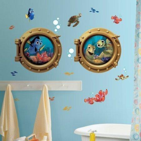 - Disney FINDING NEMO 19 BiG WALL DECALS Kids Bathroom Stickers Room Decor Fish