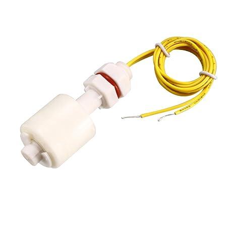sourcing map Interruptor de flotador de PP 57M10 mm Vertical Sensor de control de nivel de