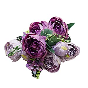 TOPMAX 10 Heads Camellia Bouquet Artificial Flowers Home Wedding Garden Decoration 86