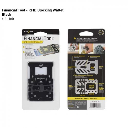 Nite Ize Financial Wallet Multi Tool Wallet Black
