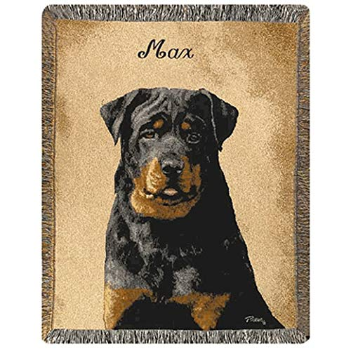- A PLUS MARKETING Personalized Dog Throw - Rottweiler