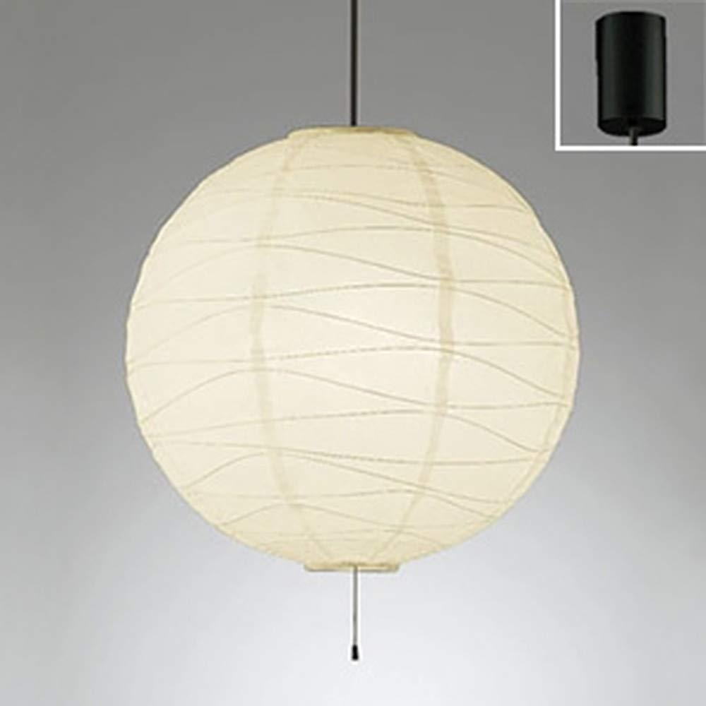 ODELIC オーデリック 和風LEDペンダントライト フレンジ ~8畳 波状 黒コード 電球色 OP052387LDB B00L327FM0