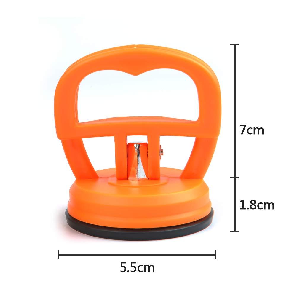 5.5CM Orange FOCCTS 2 pi/èces 5.5CM Ventouse extracteur pour /écran t/él/éphone Portable Voiture Outil de Retrait Mini Verre Ventouse Ventouse Ascenseur Verre Ventouse Petit Porte-Ventouse
