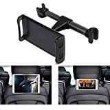 Tablet Car Seat Headrest Mount, Universal Mount Holder For iPad, iPhone, Samsung Galaxy, Amazon Kindle Fire HD,Nintendo Switch, Fits All 4-10.5 inch Smartphones And Tablets(Black)