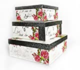 ALEF Elegant Decorative Live Laugh Love Themed Nesting Gift Boxes -3 Boxes- Nesting Boxes Beautifully Themed and Decorated - Perfect for Gifts or Simple Decoration Around the House!