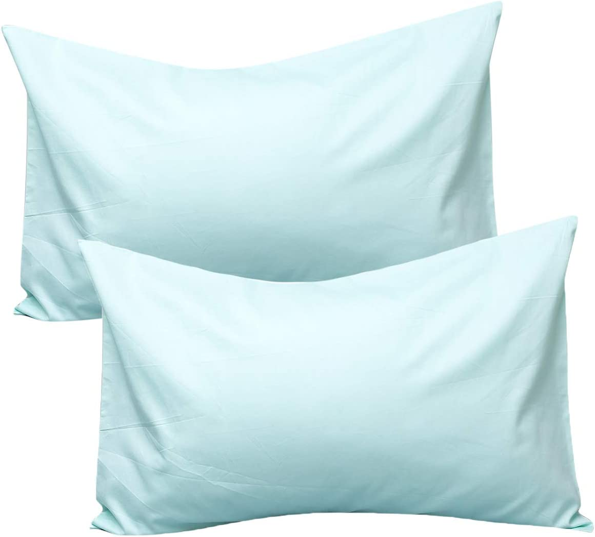 UOMNY Kids Toddler Pillowcases,100/% Cotton Travel Pillow Covers Set of 2 Pack,Pillowslip Case Fits Pillows sizesd 14x 20 for Kids Bedding Pillow Cover Baby Pillow Cases Green