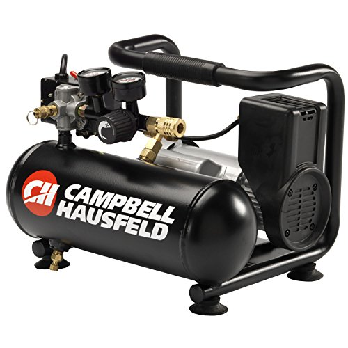 Campbell Hausfeld Air Compressor, 1-Gallon Horizontal Oilless 0.7 CFM 0.5HP 120V 4A (CT100100AV)