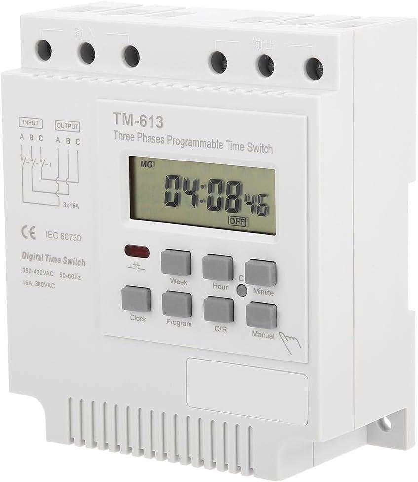 Goick Relais temporis/é-Tm-163 Triphas/é 380V Interrupteur de synchronisation de Puissance de Commande Programmable hebdomadaire num/érique Intelligent