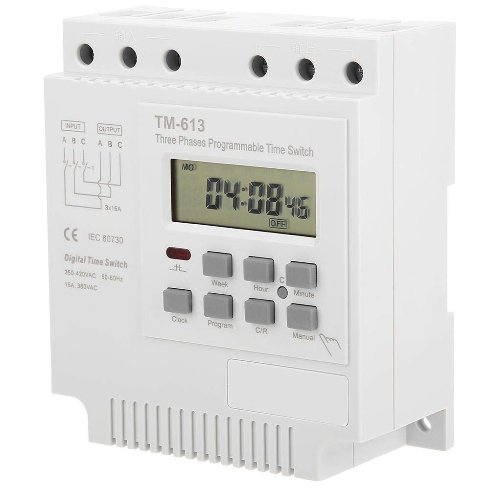 TM-163 Three Phases 380V Smart Digital Weekly Programmable Time Relay Limit Switches Control Power Timer Switch