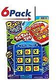 2GoodShop Pocket Travel Tic Tac Toe by JA-RU | Road Trip Games for Kids Pack of 6 | Item #3256