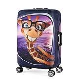 3D Print Giraffe Design Travel Suitcase Protective Cover 26'-28' Suitcase Protective Cover & High Elastic Spandex Size L