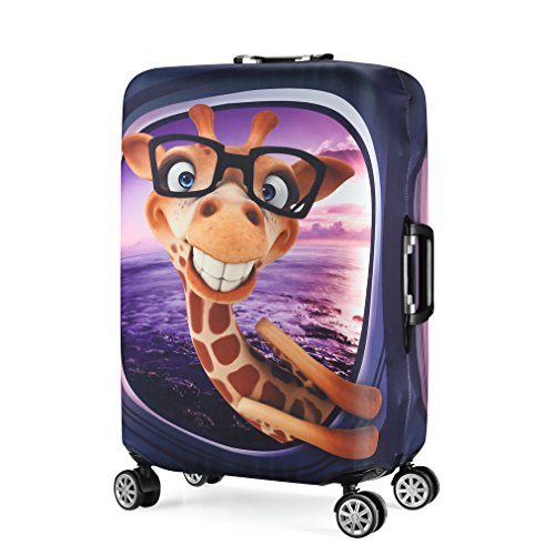 3D Print Giraffe Design Travel Luggage Protector Suitcase Cover 22