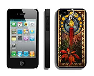 Individualization Christmas candle Black iPhone 4 4S Case 1