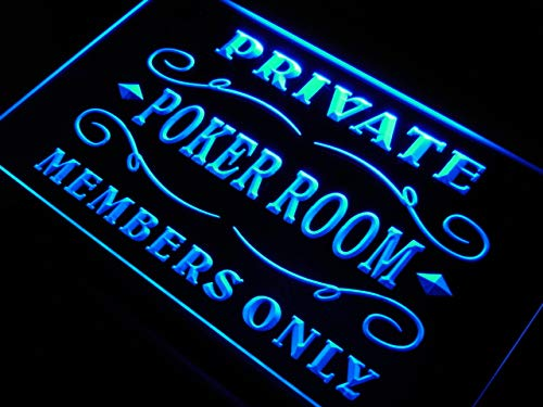 Cartel Luminoso ADV PRO s144-b Private Poker Room Member Room Neon Light Sign