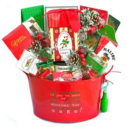For Goodness' Sake - Holiday Party Gift Basket with Bar Accessories