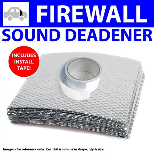 73 Firewall (Zirgo ZIR798E2 Heat & Sound Deadener Jeep Commando 1966 - 73 Firewall Kit + Seam Tape 12096Cm2)