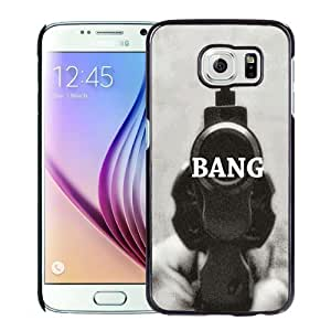 NEW Unique Custom Designed Samsung Galaxy S6 Phone Case With Revolver Gun Bang_Black Phone Case