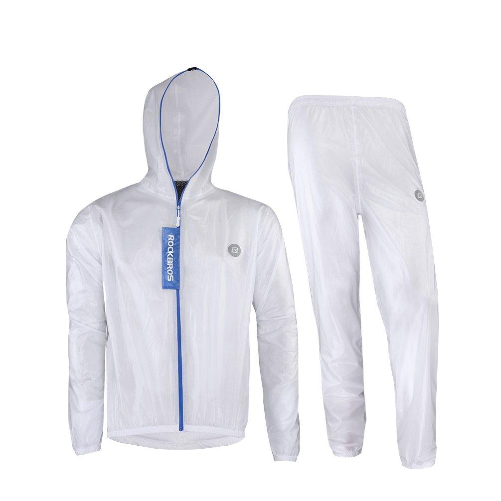 RockBros, set di pantaloni e giacca per la pioggia, impermeabile, giacca da bicicletta traspirante, tuta antipioggia