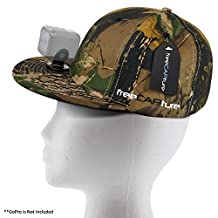 Hat Compatible with Removable GoPro Camera Head Mount - Hero Action Camcorder HD Edition - Go Pro 4 Silver, 3 + Black, 2 White, 1- Helmet Accessory Strap Caps Harness Studio Accessories (Camo)