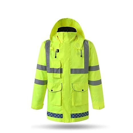 Ropa reflectante 3 en 1 chaqueta impermeables de la lluvia del invierno, cojín de algodón