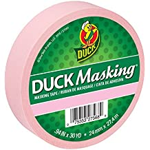 Duck Masking 240879 Pink Color Masking Tape, .94-Inch by 30 Yards