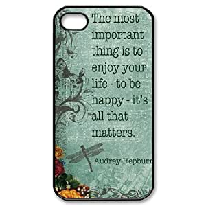 Audrey Hepburn Quote DIY Cover Case with Hard Shell Protection for Iphone 4,4S Case lxa#904599