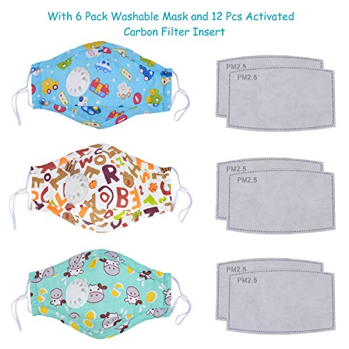 Outgeek 6PCS Kids Mouth Mask Dustproof Mouth Cover Facial Mouth Mask for Toddlers for Latest Protection Surgical Disposable Masks Medical Protection